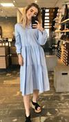 Noella Lipe Short Dress Blue Stripe