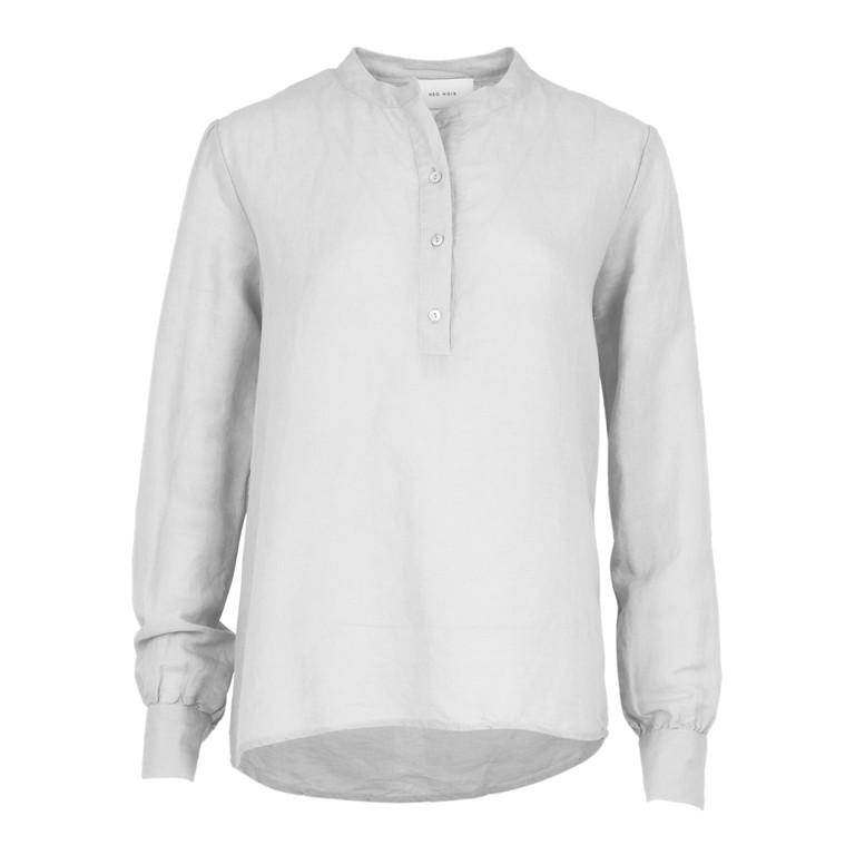 3e1160b1e56 Neo Noir White Juliette Linen Shirt - WH Huset
