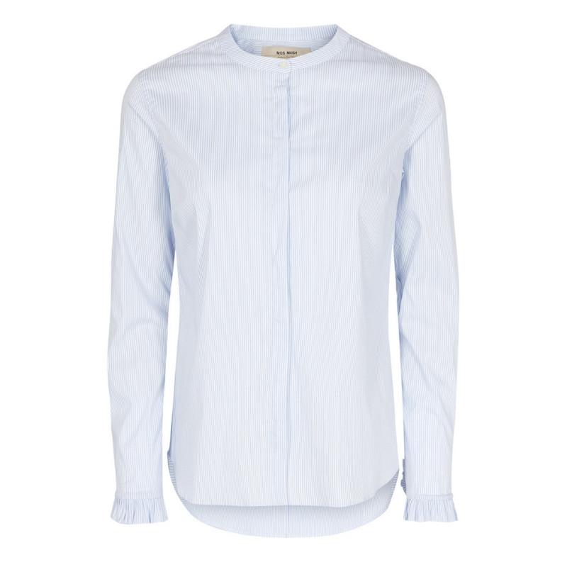 35a72099 Mos Mosh Lyseblå/Hvid Mattie Stripe Shirt - WH Huset