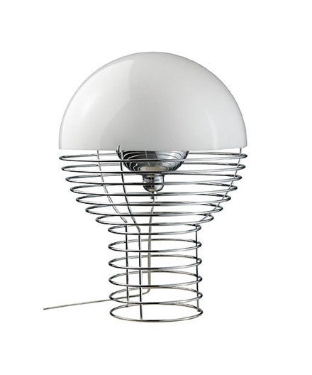 Wire Bordlampe Ø40 Hvid - Verner Panton