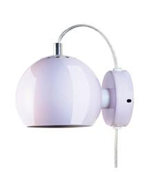 Ball Væglampe Blank Lys Rosa - Frandsen
