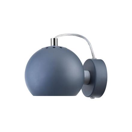 Ball Væglampe Mat Petroleums Blå - Frandsen