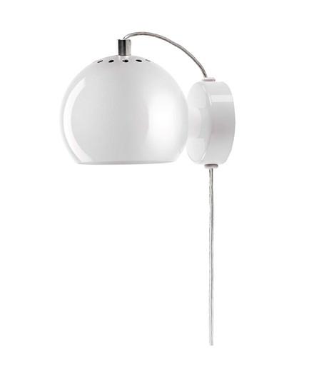 Ball Væglampe Blank Hvid - Frandsen