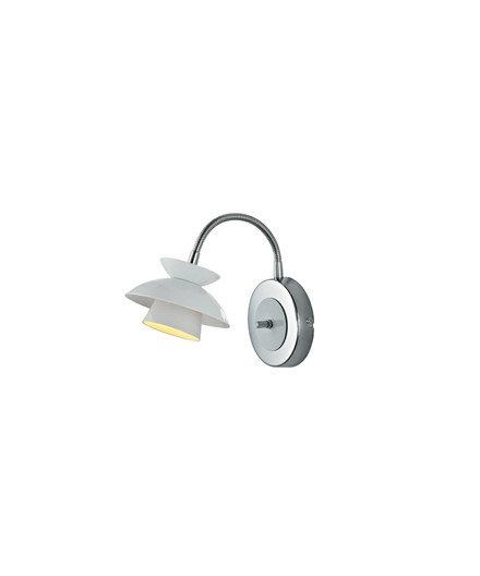 Mini Dallas Væglampe m/Flex Hvid - Halo Design