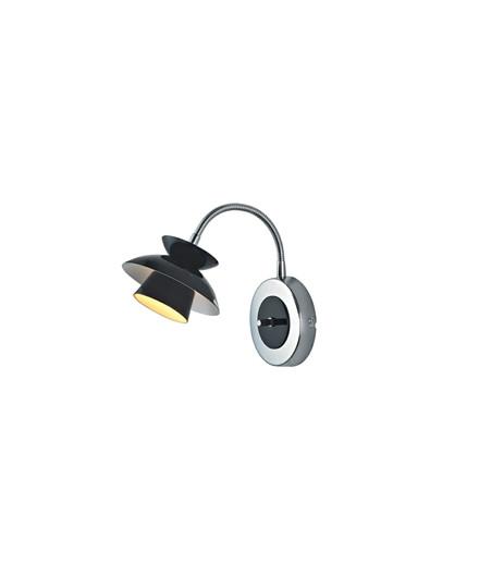 Mini Dallas Væglampe m/Flex Sort - Halo Design