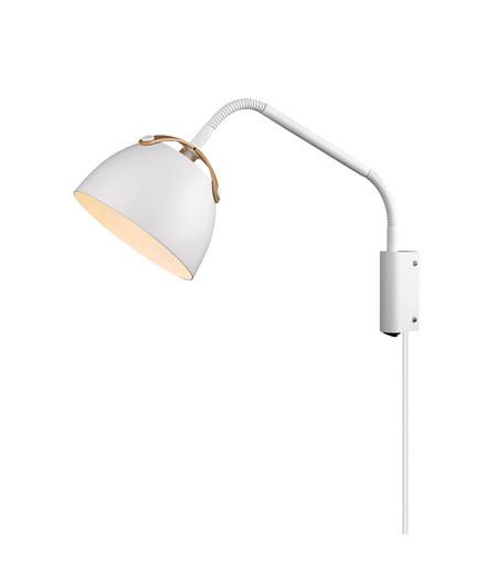 Oslo Væglampe Ø16 Hvid/Eg - Halo Design