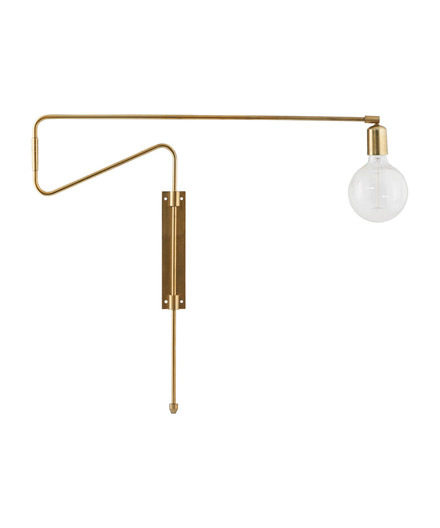 Swing Væglampe 70cm Messing - House Doctor