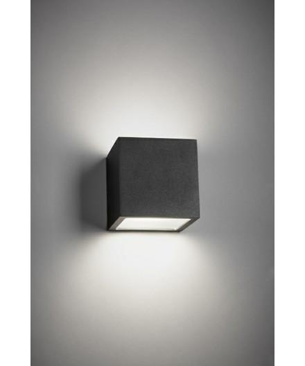 Cube XL Ulko Seinävalaisin Up/Down Musta - LIGHT-POINT