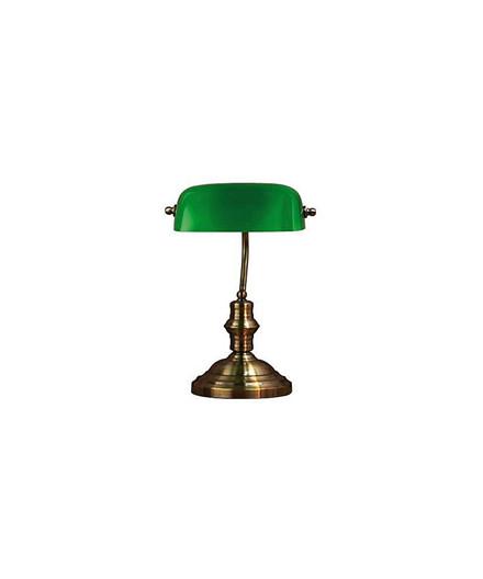 Bankers Bordlampe 42Cm Oxide/Grøn - Markslöjd
