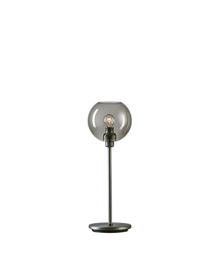 Gloria Bordlampe Oxidgrå/Røgfarvet Glas - Belid