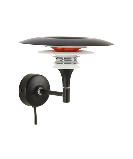 Diablo Væglampe LED Ø220 Sort/Rød - Belid