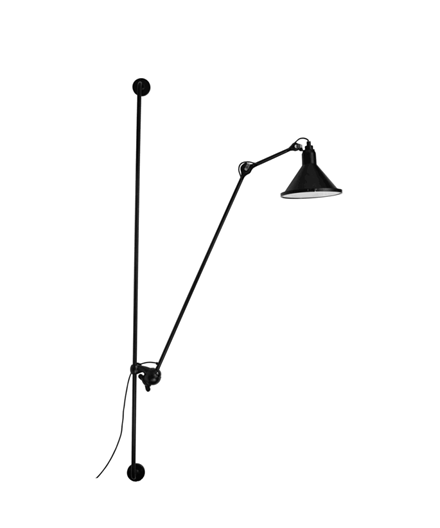 214 XL In And Out Væglampe Sort - Lampe Gras