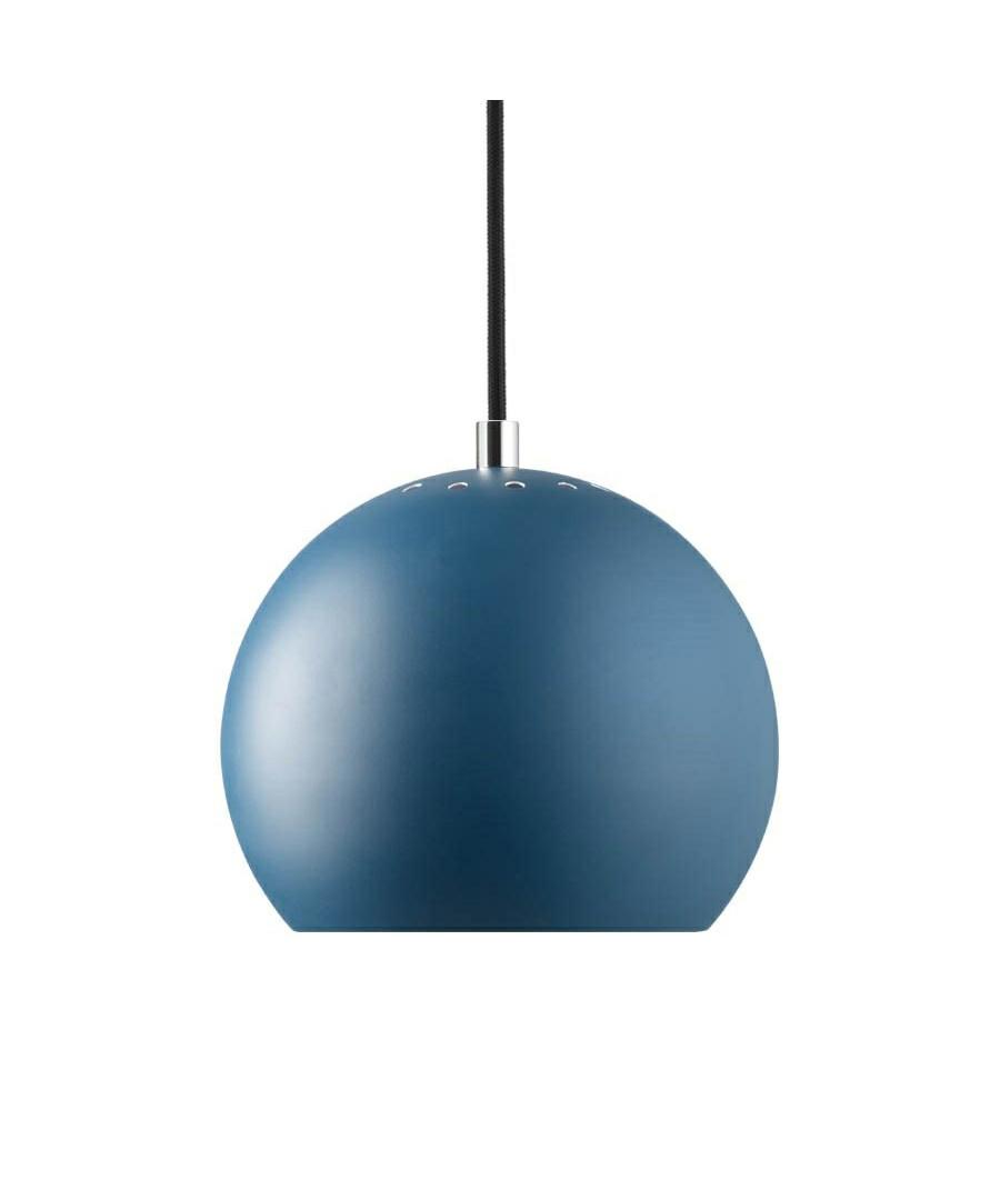Ball Pendel Mat Petroleumsblå/Hvid Indeni - Frandsen