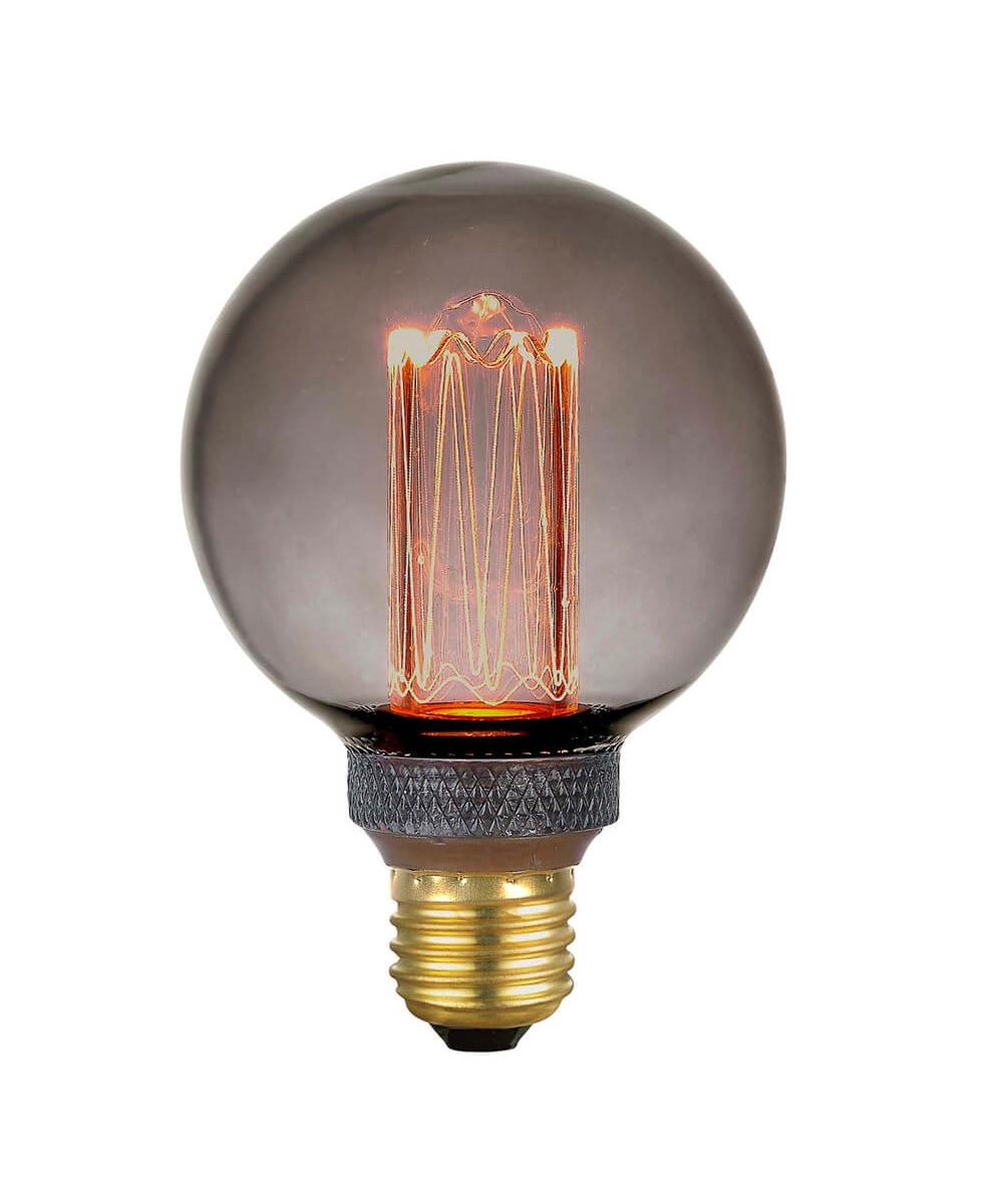 Pære LED 5W (40-200lm) 3-step Smoke Mini Globe E27 - Colors