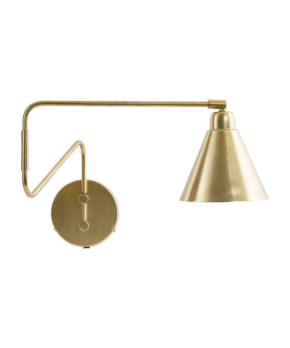 Game Væglampe 70cm Messing/Hvid - House Doctor