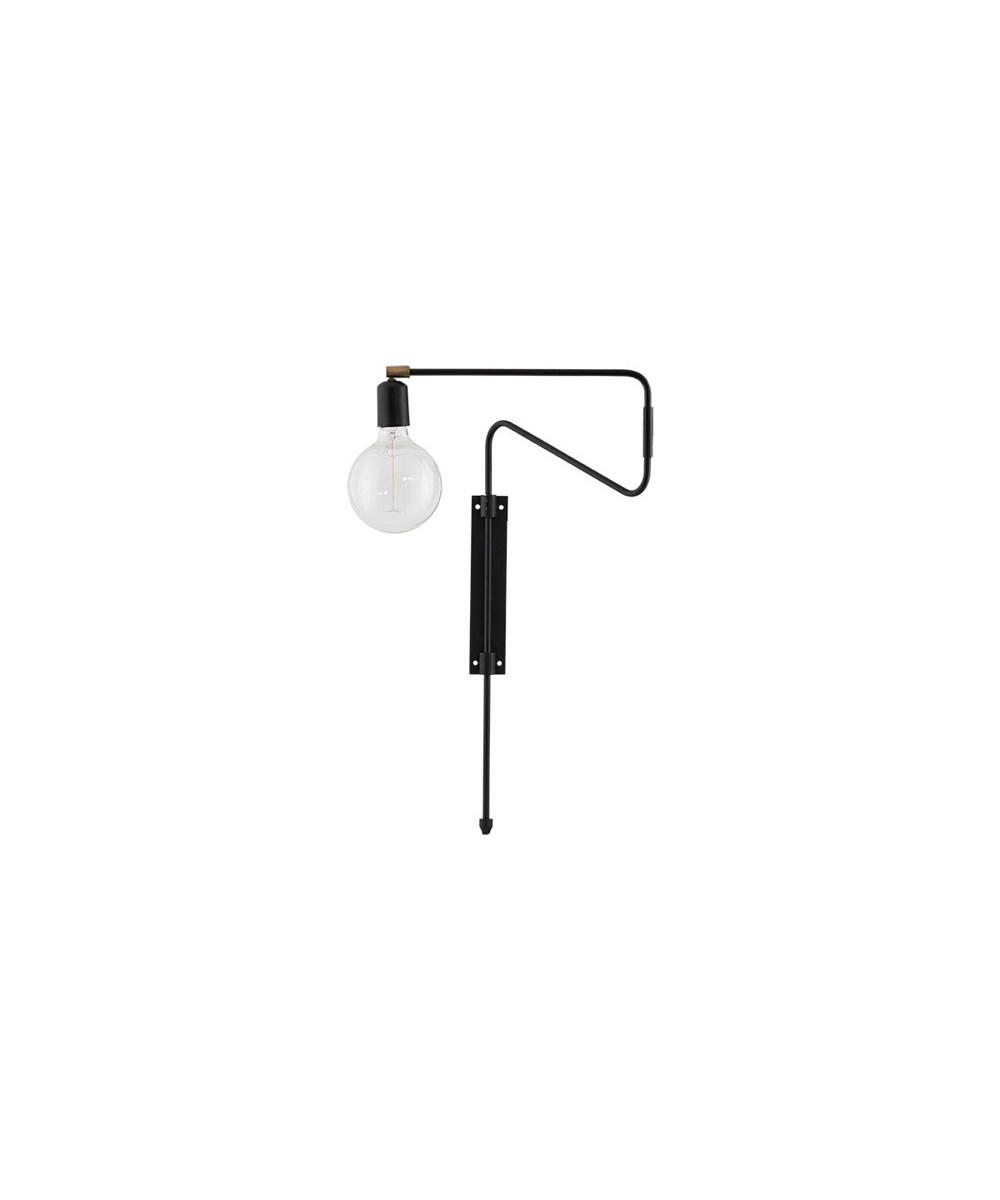 Swing Væglampe 35cm Sort - House Doctor