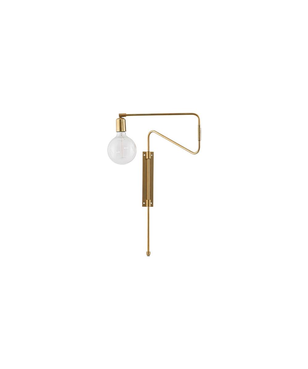 Swing Væglampe 35cm Messing - House Doctor