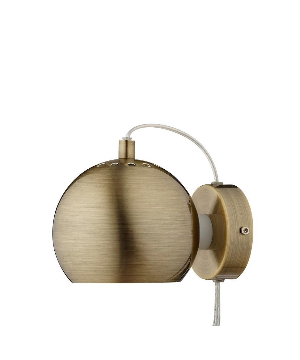Ball Væglampe Mat Antik Messing - Frandsen