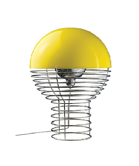 Wire Bordlampe Ø40 Gul - Verner Panton