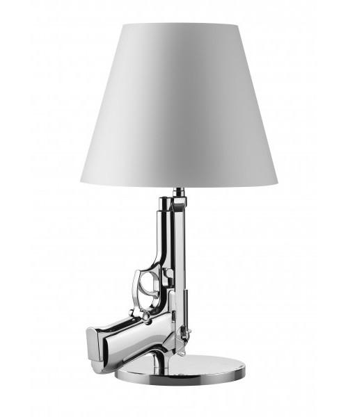 Gun Bedside Bordlampe Krom - Flos