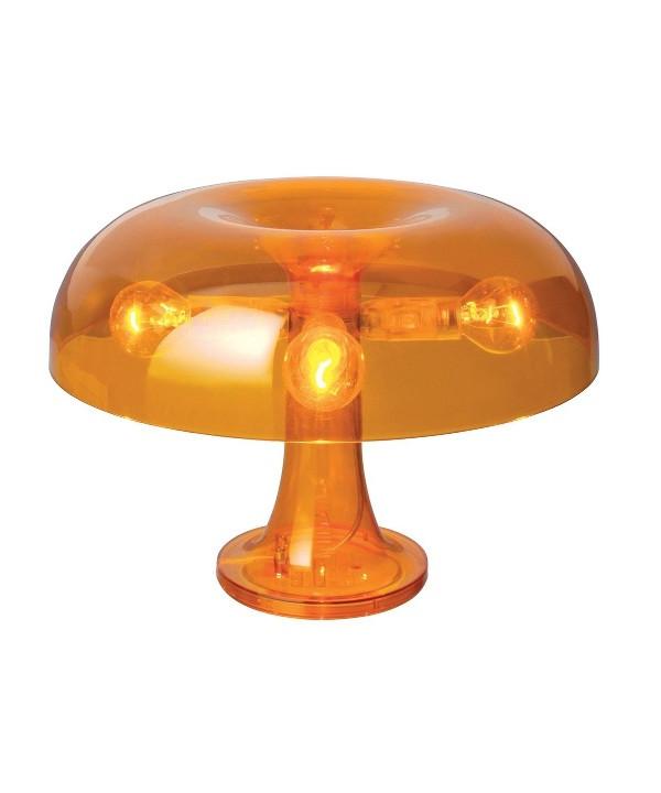 Nessino Bordlampe Transparent Orange - Artemide