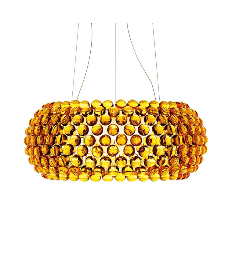 Caboche Grande LED Pendel Gul Guld - Foscarini