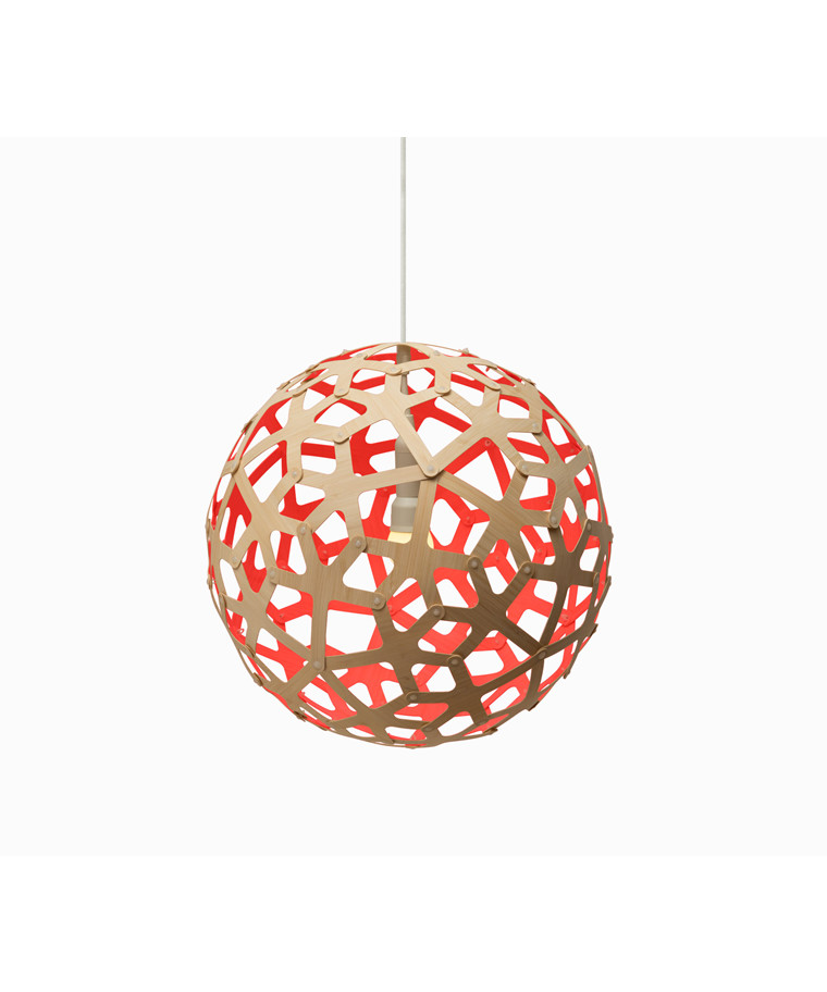 Coral Rød Pendel - David Trubridge
