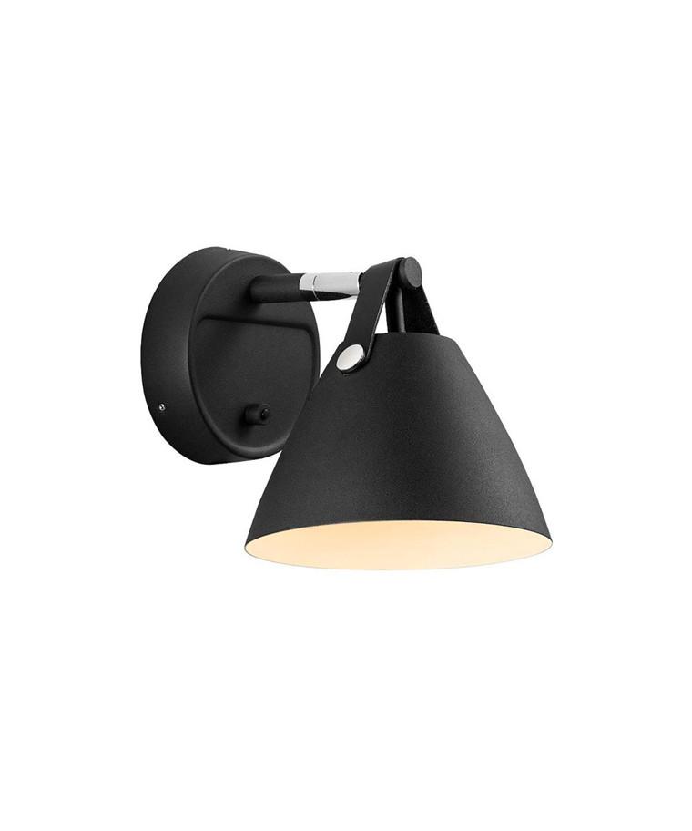 Strap 15 Væglampe Sort - Nordlux