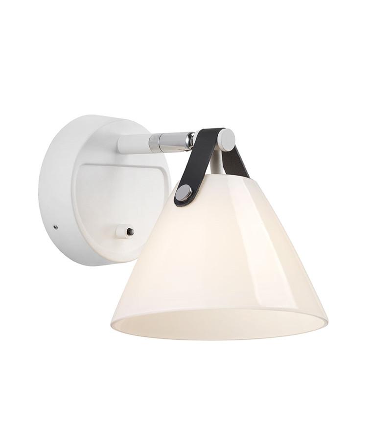 Strap 15 Væglampe Opal/Hvid - Nordlux
