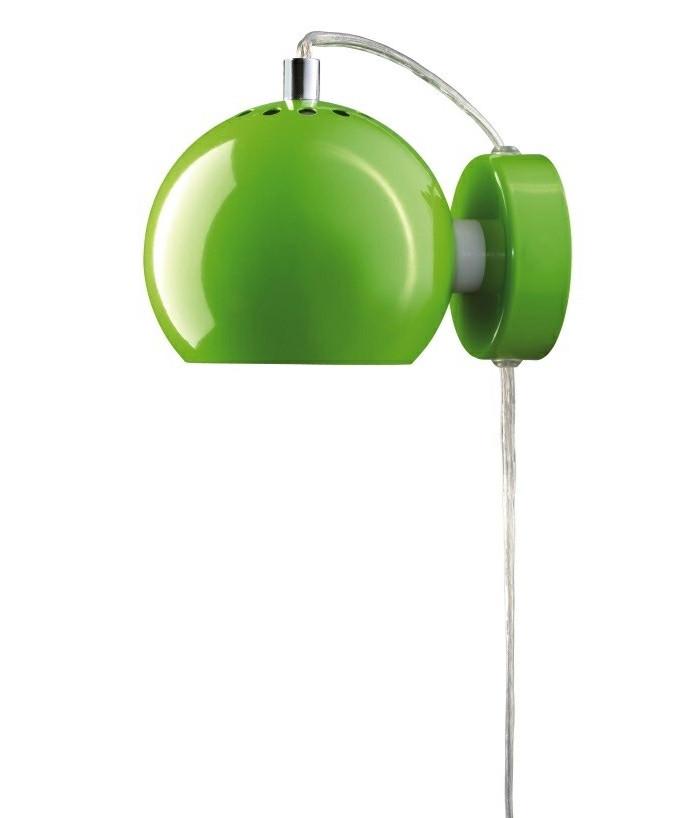 Ball Væglampe Blank Lime - Frandsen
