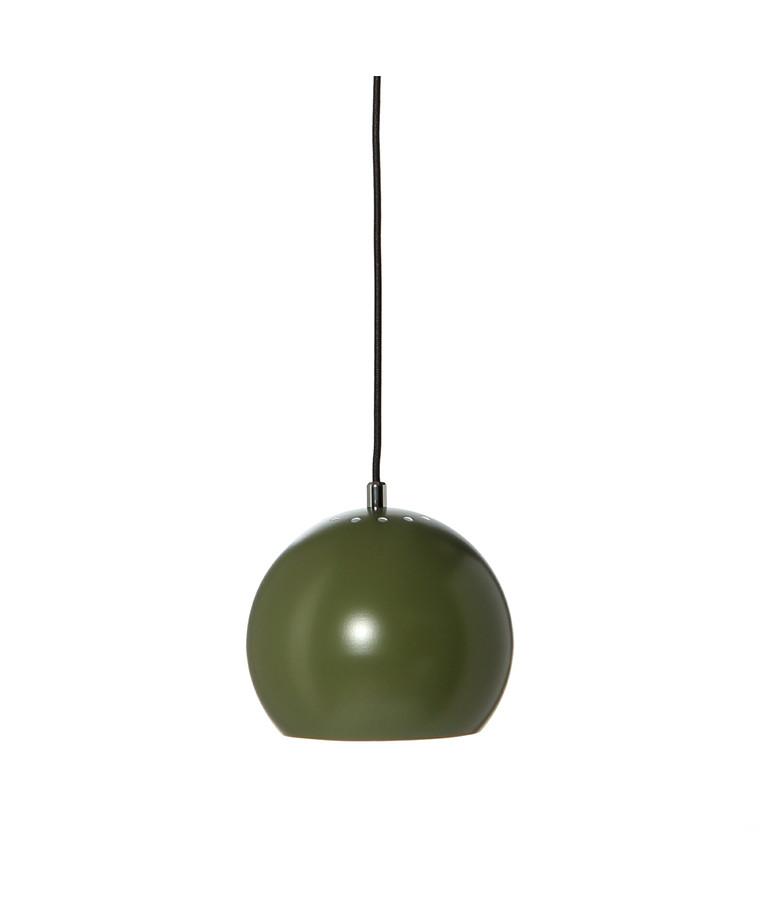 Ball Pendel Mat Mørkegrøn m/Stofledning - Frandsen