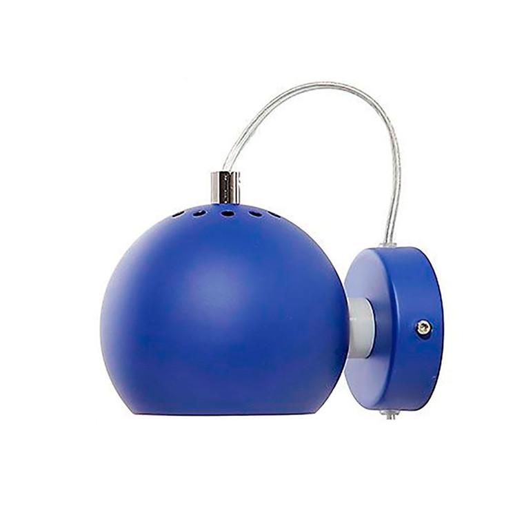 Ball Væglampe Mat Koboltblå - Frandsen