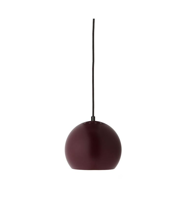 Ball Pendel Mat Bordeaux/Hvid Indeni - Frandsen