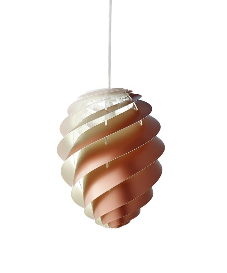 Swirl CP2 Pendel Medium Kobber - Le Klint