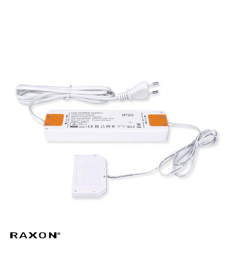 Driver LED 12V/24W - 6 Plug  Hvid - Raxon