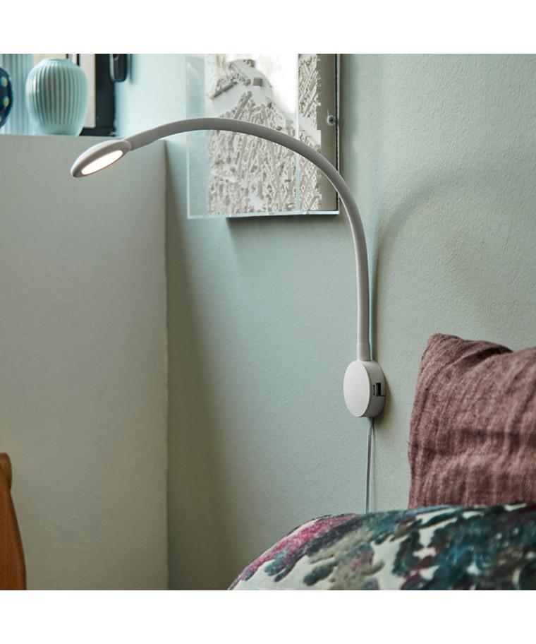 Rl 27 LED 2Xusb Væglampe Hvid - Raxon