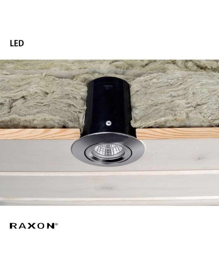 LD800 Safespot LED GU10 Downlight Satin Krom - Raxon