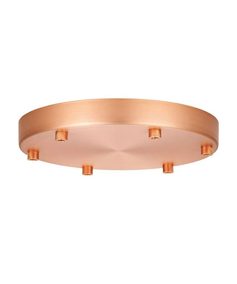 Roset til 6 lamper Kobber Ø22 - Halo Design