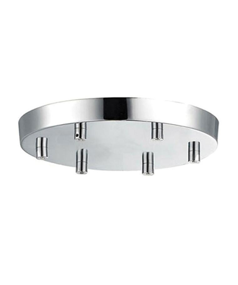 Roset til 6 lamper Krom Ø 22 - Halo Design