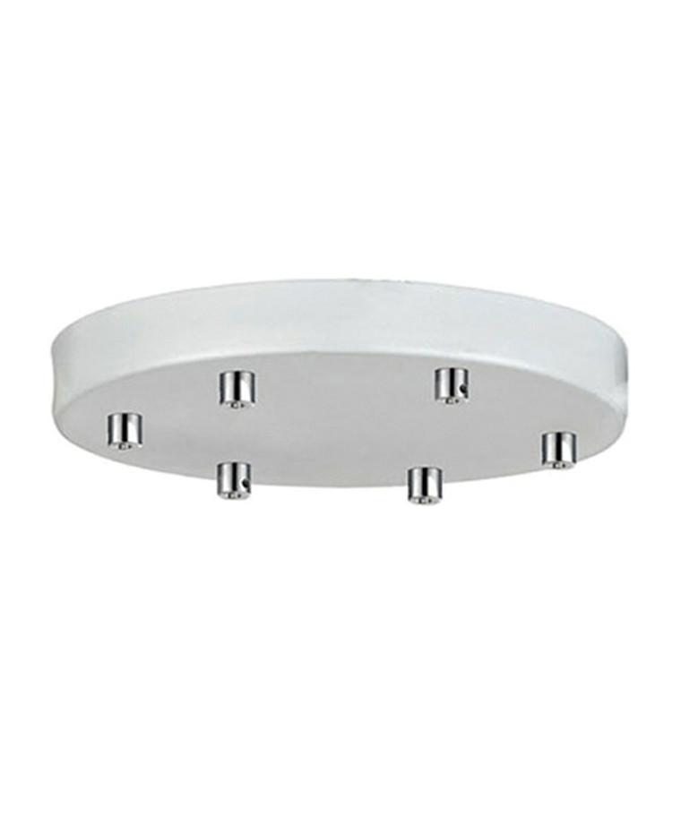 Roset til 6 lamper Hvid Ø 22 - Halo Design