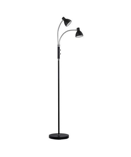 Hudson Gulvlampe LED 2L Sort - Halo Design