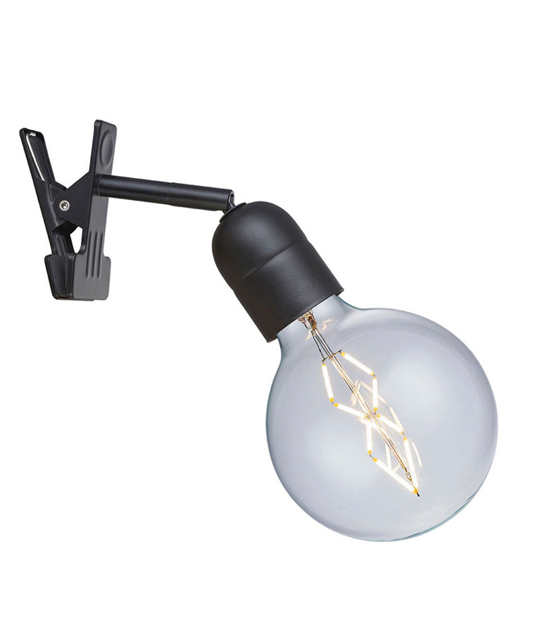 Elegance Clipslampe Sort - Halo Tech