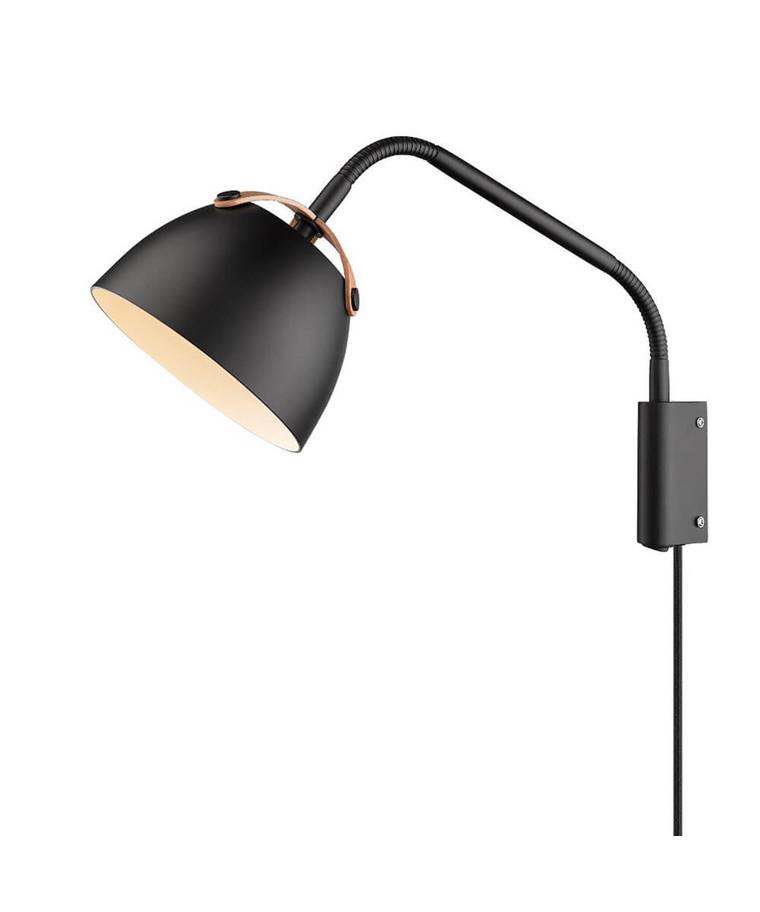 Oslo Væglampe Ø16 Sort/Eg - Halo Design