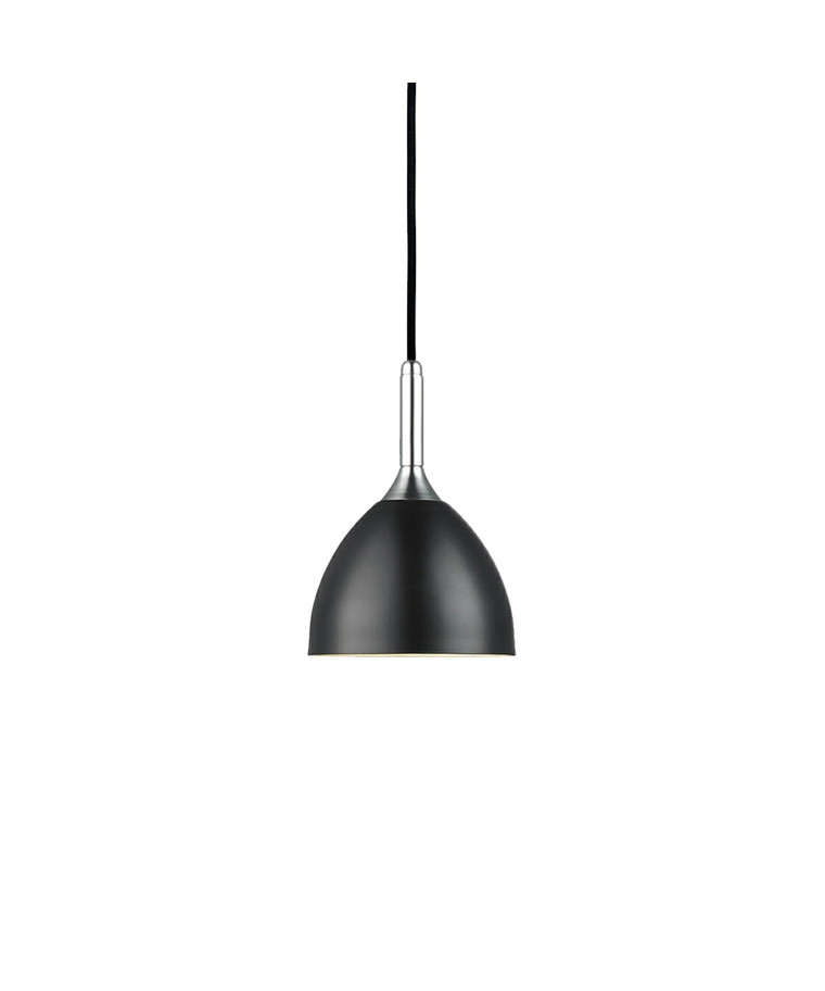 Bellevue 14 Sort/Krom Pendel Lampe - Halo Design