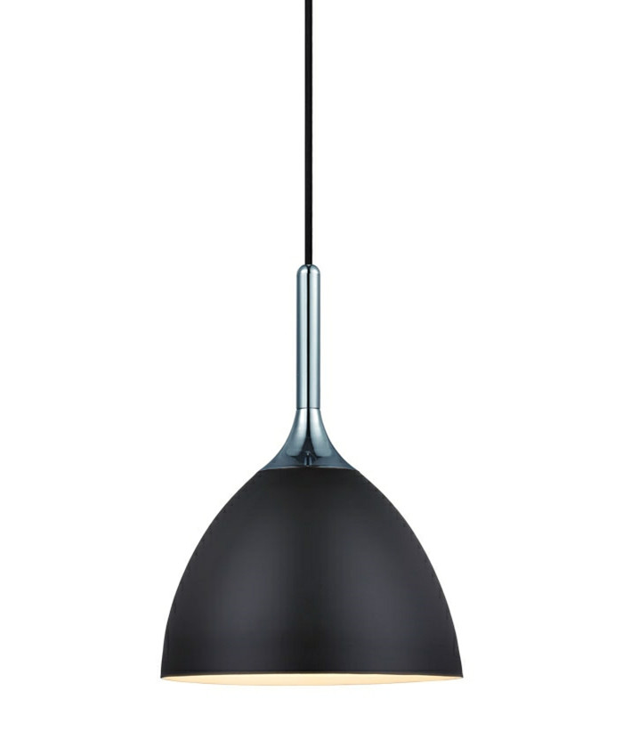 Bellevue 24 Sort/Krom Pendel Lampe - Halo Design