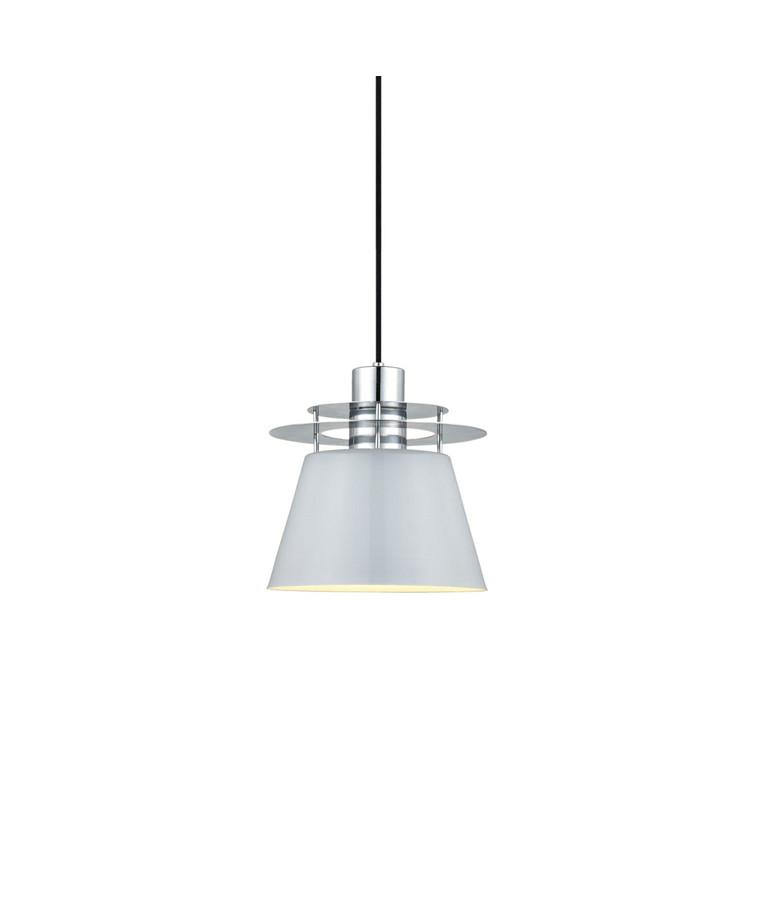 Defacto 160 Pendel Hvid/Krom - Halo Design