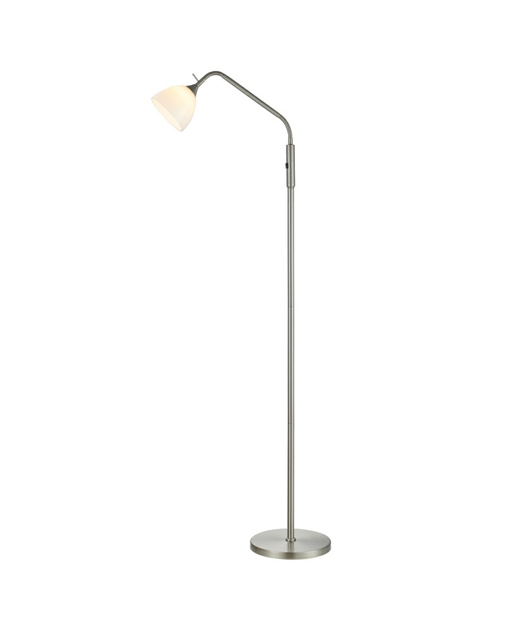 Bellevue LED gulvlampe 1 arm, Opal-børstet - Halo Design