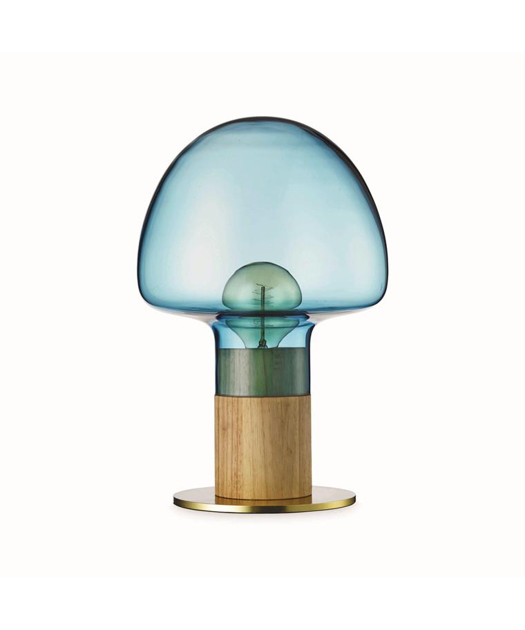 Mush Bordlampe Blå Transparent - Watt A Lamp