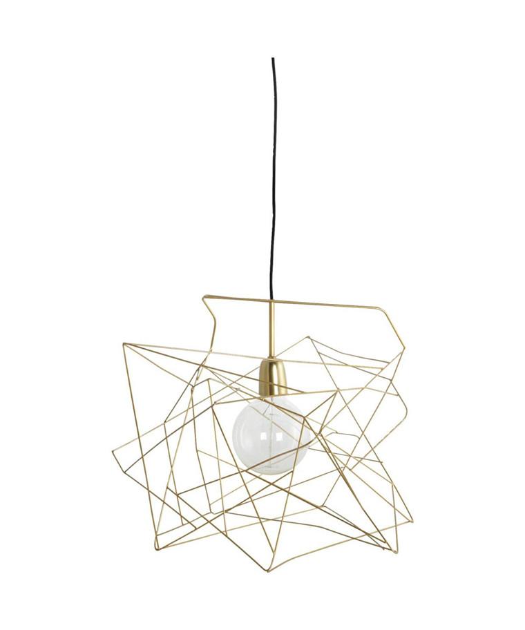 Asymmetric Lampeskærm Guld - House Doctor