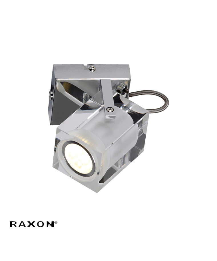 K9 Cube LED W1 Væglampe Klar-mat - Raxon